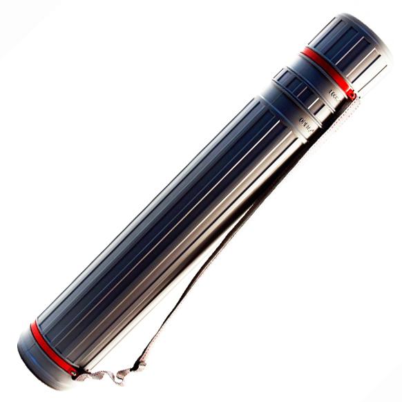 Futrola - Tuba za crteže raširujuća siva 75cm-130cm Φ10.5cm