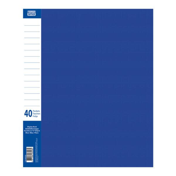 Fascikla katalog PVC A4 sa 40 U-folija PLAVA, TTO