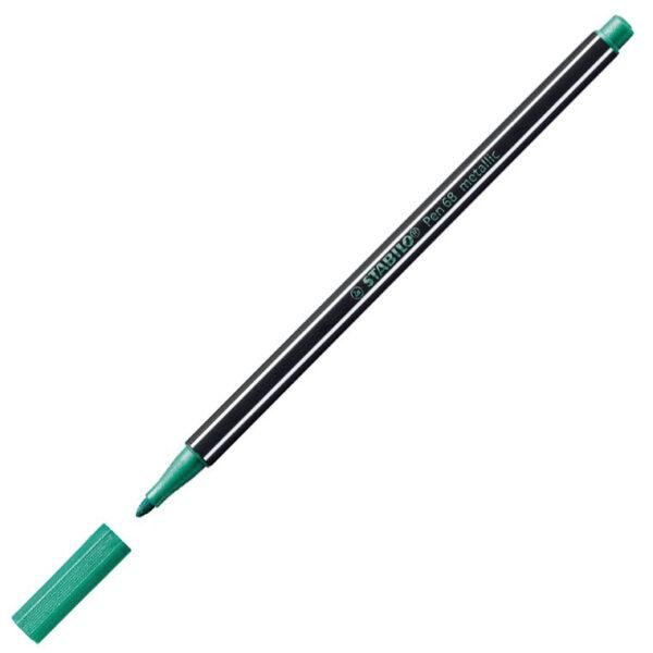 Flomaster 1mm METALLIC ZELENI 68/836, Stabilo
