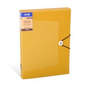 Fascikla sa lastišem BOX 40mm A4 ŽUTA, Spree
