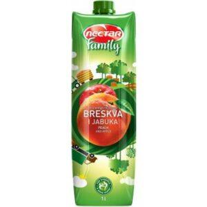 Sok NEKTAR FAMILY Breskva i Jabuka voćni nektar, 1litar