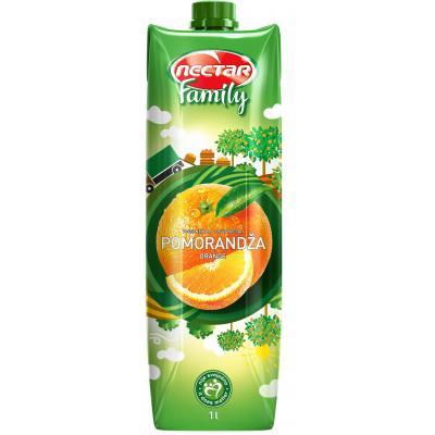 Sok NEKTAR FAMILY Pomorandža kašasti voćni nektar, 1litar