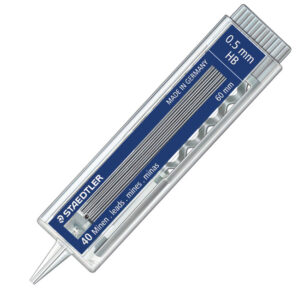Mine grafitne VELIKE 0.5mm HB 1/40 60mm, Staedtler