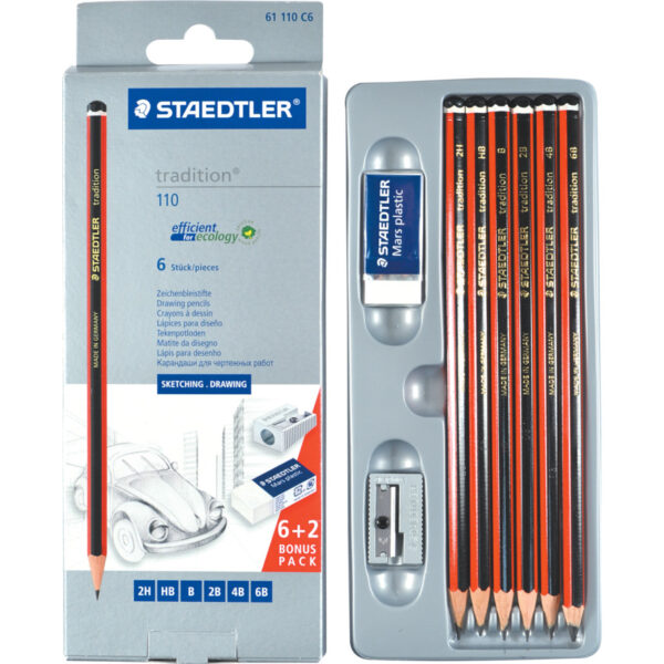 Grafitne olovke TRADITION set 1/6 Sketching Pencil set 110