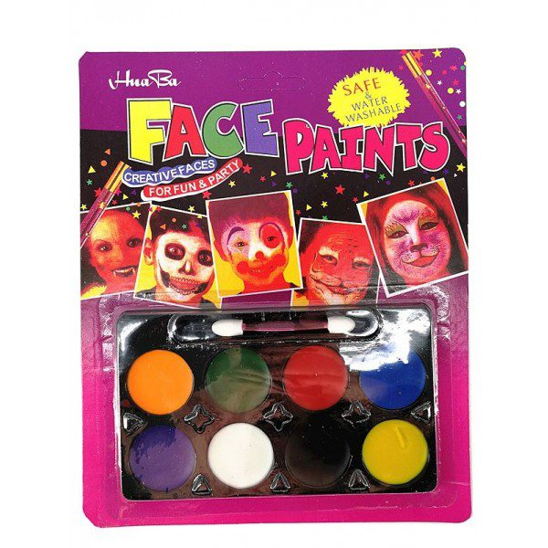 Boje za lice FACEPAINTS Paleta 8 boja HB-800A