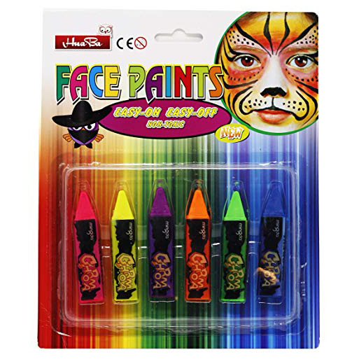 Boje za lice FACE PAINTS CHROMA Krede Multicolor 6 boja