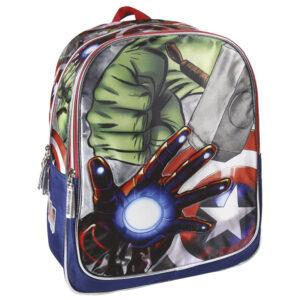 Avengers ranac đački; sadrži: glavnu pregradu i prednji džep sa zipom; džepovi sa strane; ručka za nošenje; ergonomski oblikovana leđa i trake za nošenje; dimenzija: 31x42x13 cm