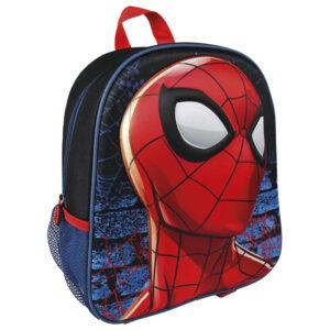 RANAC PREDŠKOLSKI 1 pregrada na zip; džep sa strane; naramenice i ručka za nošenje; materijal: 60% poliester, 40% EVA; dimenzija: 25x31x10 cm; težina: 300g Motiv: Spiderman