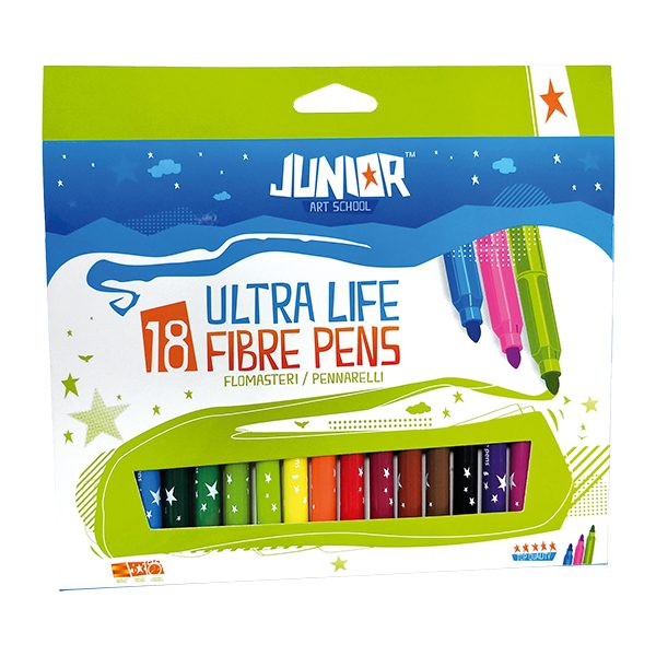 flomasteri fibre pens 1/18 junior