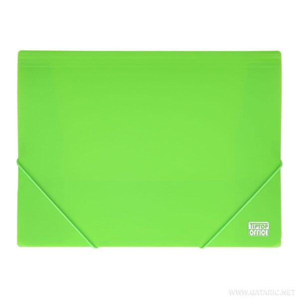 Fascikla A4 NEON ZELENA pvc sa lastišem na uglovima 405371, TTO