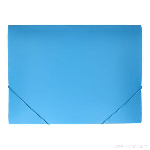 Fascikla PVC NEON Plava A3 sa gumom, TTO