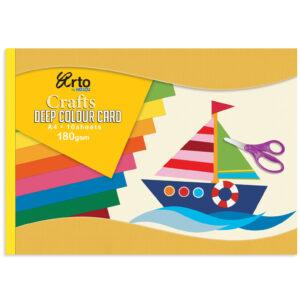 Kraft blok 36656 KARTON INTEZIVNIH BOJA A4 180gr 10 jarkih listova Mix boje, Campap
