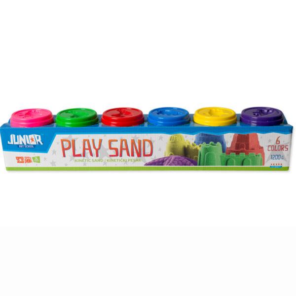 PLAY SAND kinetički pesak MIX 6 boja 1200gr, Junior