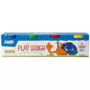 Specifikacije: Kratak opis: Play dough je visokog kvaliteta, mekan, nelepljiv i lak za oblikovanje. Netoksičan je i 100% bezbedan Sadržaj: 4 boje Uzrast: 3+