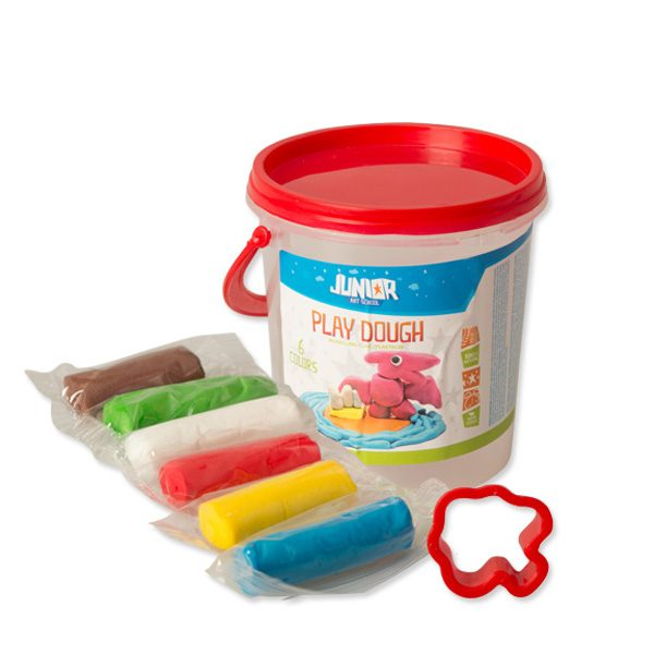 PLAY DOUGH plastelin masa za oblikovanje Kantica Mix 6 boja, 90gr, Junior