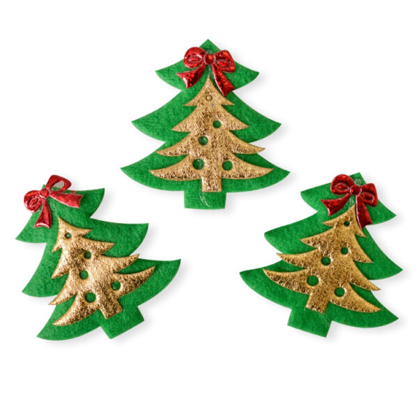 137103 novogodišnja dekoracija jelka zlatan zelena