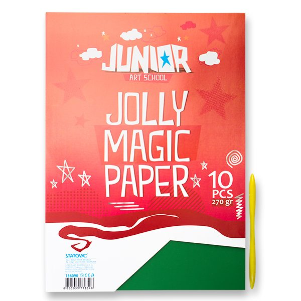 Jolly Magic Paper, papir magični metalic, miks, A4, 270g, 10K
