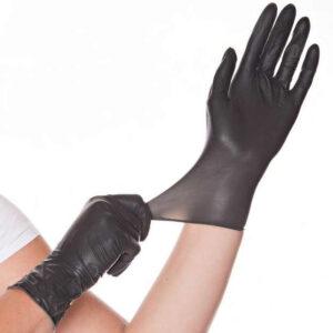 Jednokratne rukavice crne lateks