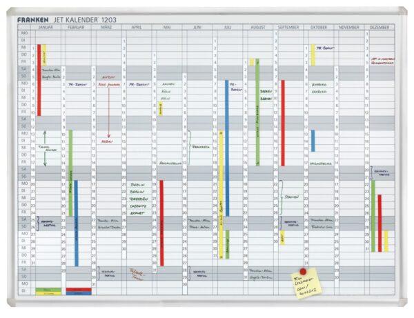 Godišnja planer tabla JK 1203, 90x120, 12 meseci Franken