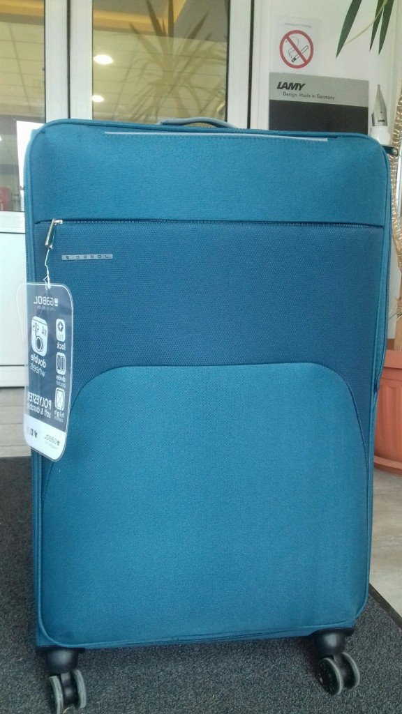 Kofer srednji 41x69x26 cm  polyester 60l-3,2 kg Zambia petrolej Gabol