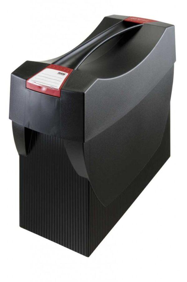 Kutija za viseće fascikle SWING, sa poklopcem crna Han