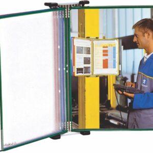Magnetni stalak zidni čelični sa 5 ramova A4 Tarifold