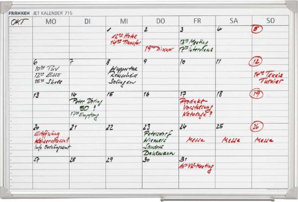 Nedeljna planer tabla 60x90, FRANKEN