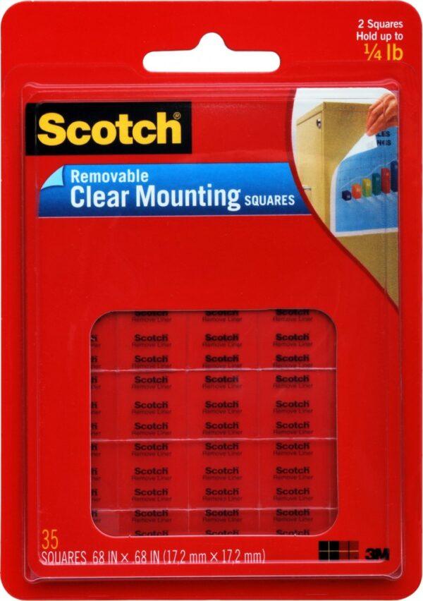 Obostrano lepljivi kvadratići za montažu Scotch 859, 17x17mm, 1/35