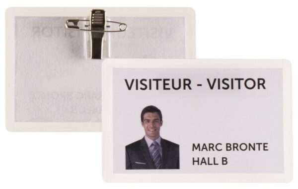 Samolaminirajući bedž za ID kartice, 100x66mm, kombo zakačka 1/25 transparent Tarifold