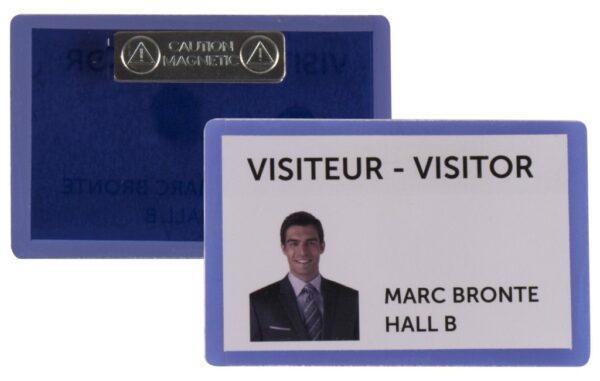 Samolaminirajući bedž za ID kartice, 100x66mm, sa magnetom 1/25 plava Tarifold