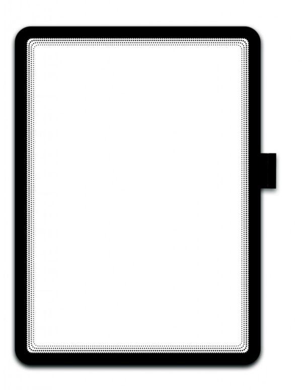 Samolepljivi otvoreni ram za papir A4, magnetno zatvaranje crna Tarifold