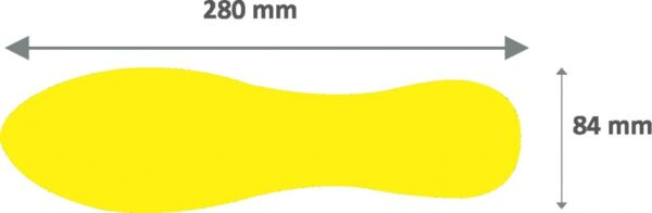 "Simboli za podno obeležavanje ""stopalo"" 1/10 žuta Tarifold"
