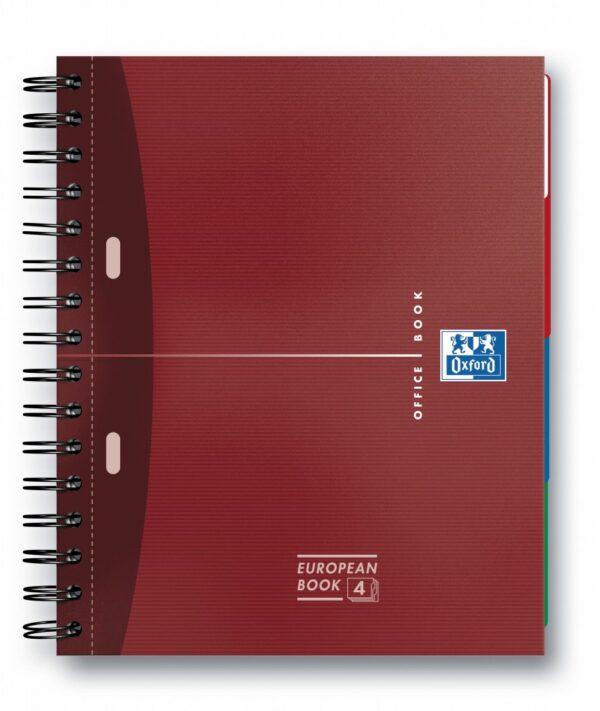 Sveska Oxford Office Essentials Europeanbook A4+ kvadratići, 4 Subject