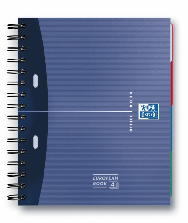 Sveska Oxford Office Essentials Europeanbook A4+ linije, 4 Subject