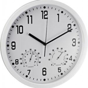 Zidni sat analogni sa termometrom i hidrometrom bela Alco