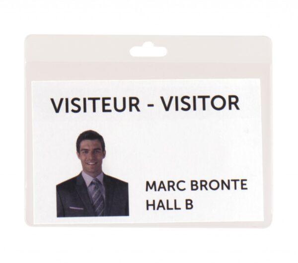 Bedž za ID kartice 82,5x103mm, 1/30 transparent Tarifold