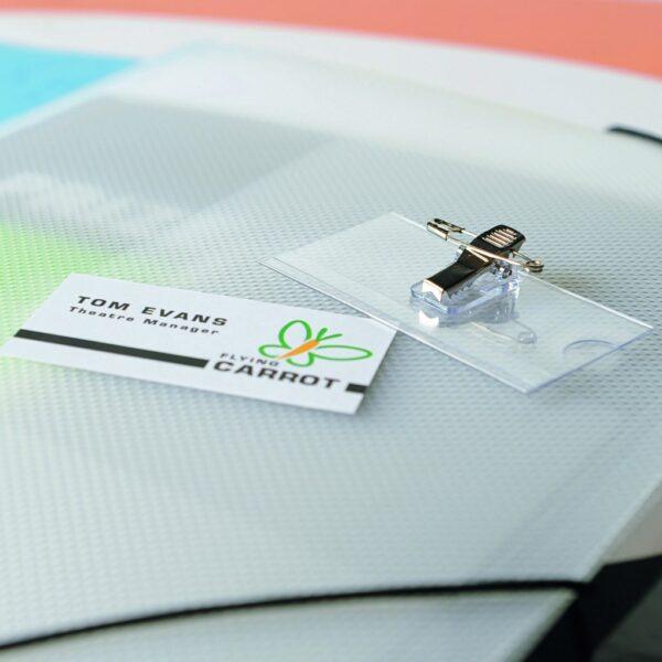 Bedž za ID kartice PET, 40x75mm, combo 1/50 Tarifold