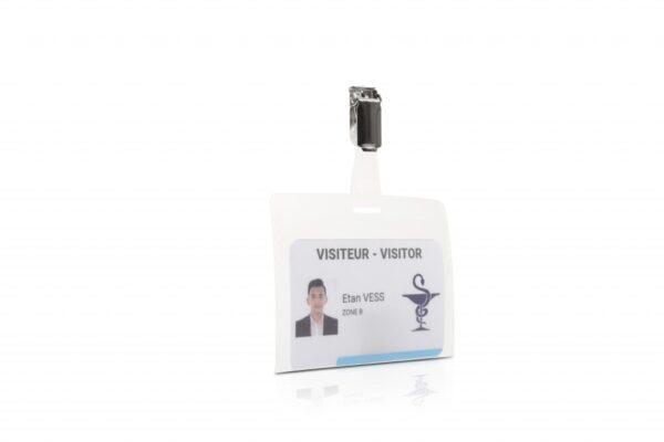 Bedž za ID kartice za posetioce, 98x74mm, sa štipaljkom 1/50 Tarifold