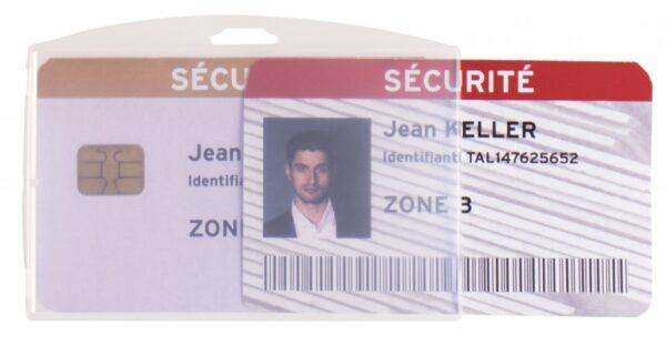 Držač za ID kartice PP, 64x96mm, dupli clear 1/10 Tarifold