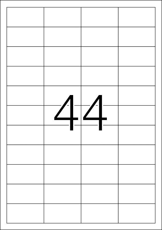 Etikete nepoderive 48,3x25,4 A4/44 1/25 bela Herma