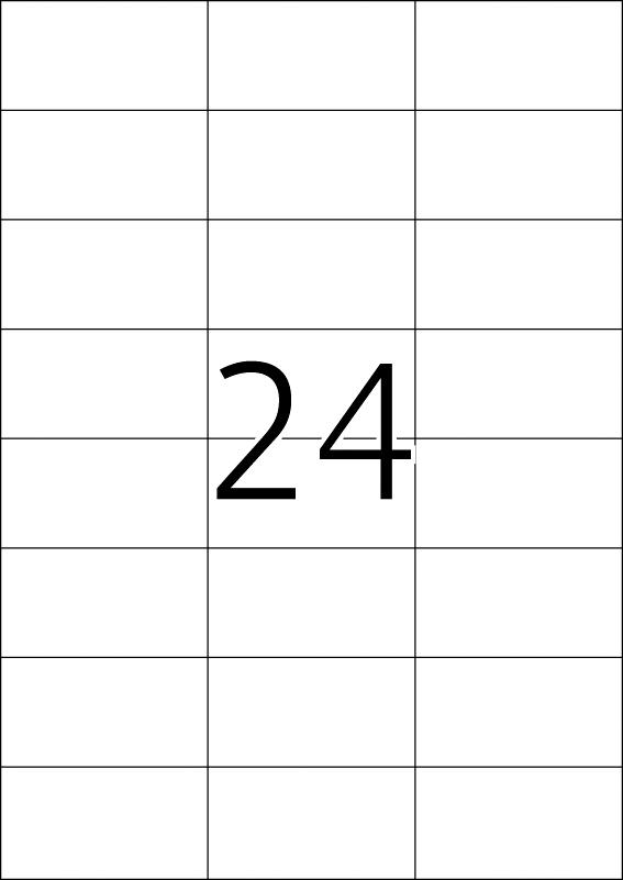 Etikete nepoderive 70x37,4 A4/24 1/25 bela Herma