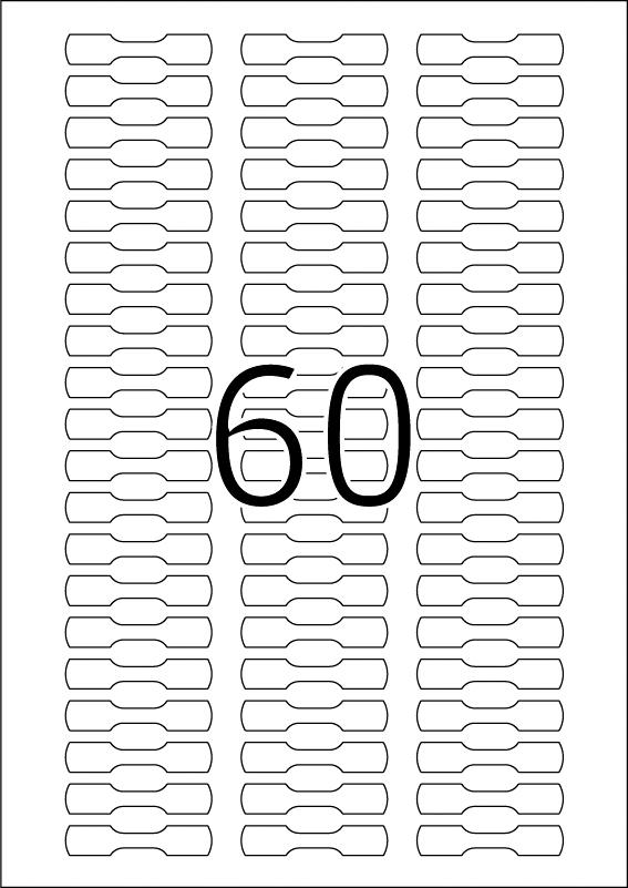 Etikete prsten 10x49 A4/60 1/1500 bela Herma