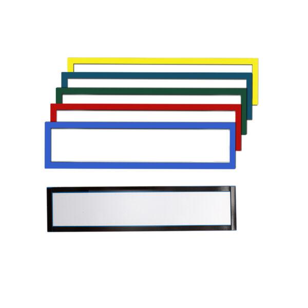 Magnetni ram za naslov, 230x75mm sa 4 magnetne tračice plava O+CO