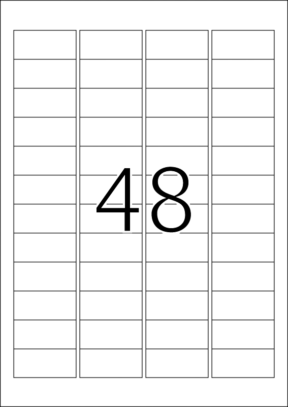 Outdoor etikete 45,72x21,16 A4 1/10 bela Herma