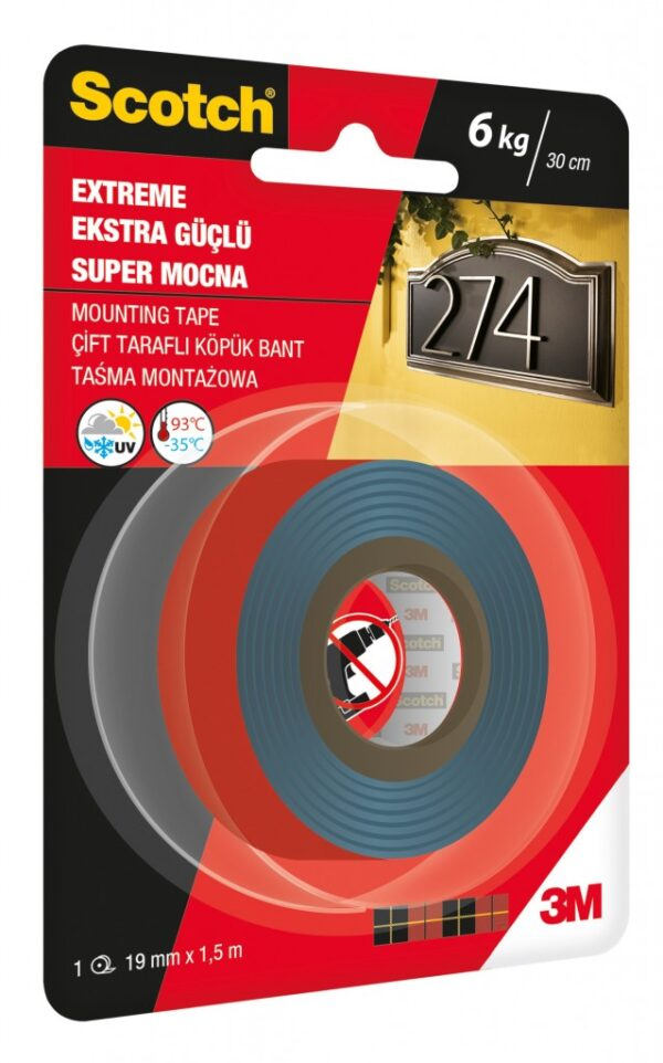 Traka za montažu Scotch EXTREME, 19mm x1,5m