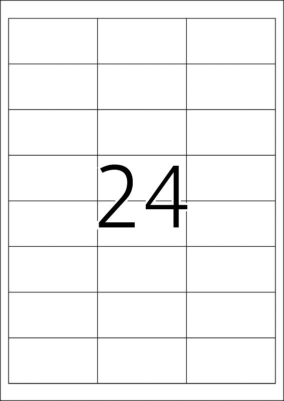 Etikete nepoderive 66X33,8 A4/24 1/25 bela Herma
