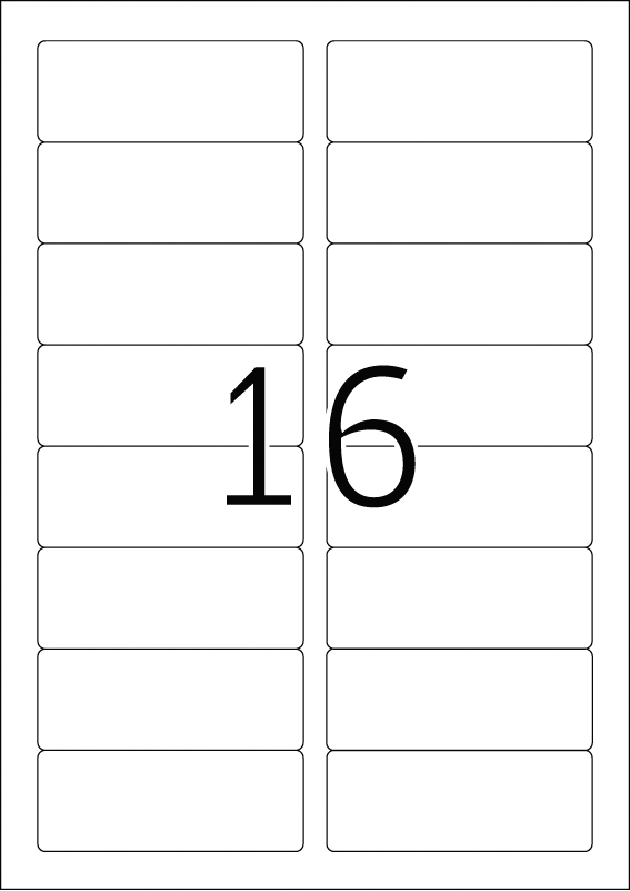 ID tekstilne etikete 88,9X33,8 bela A4/16 1/25 Herma