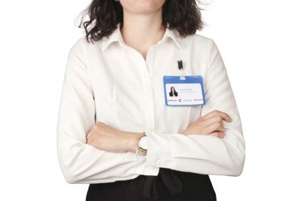 Bedž za ID kartice PVC, 82,5x103mm, sa štipaljkom 1/25 plava Tarifold