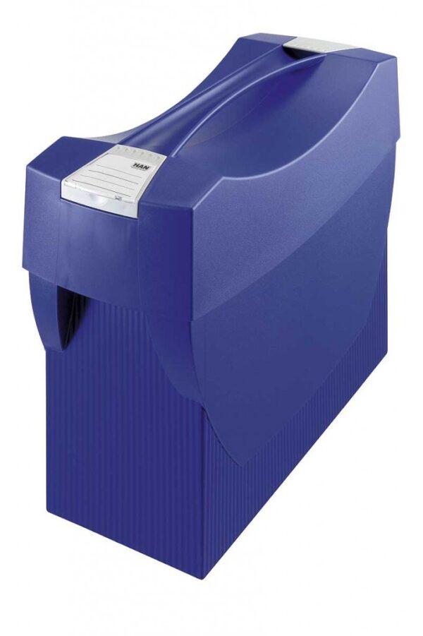 Kutija za viseće fascikle SWING, sa poklopcem plava Han