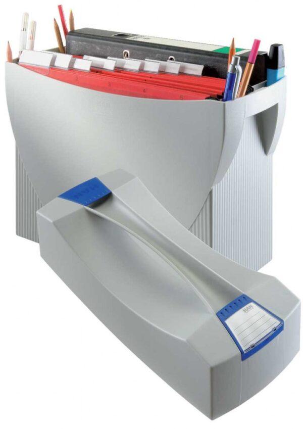 Kutija za viseće fascikle SWING, sa poklopcem siva Han